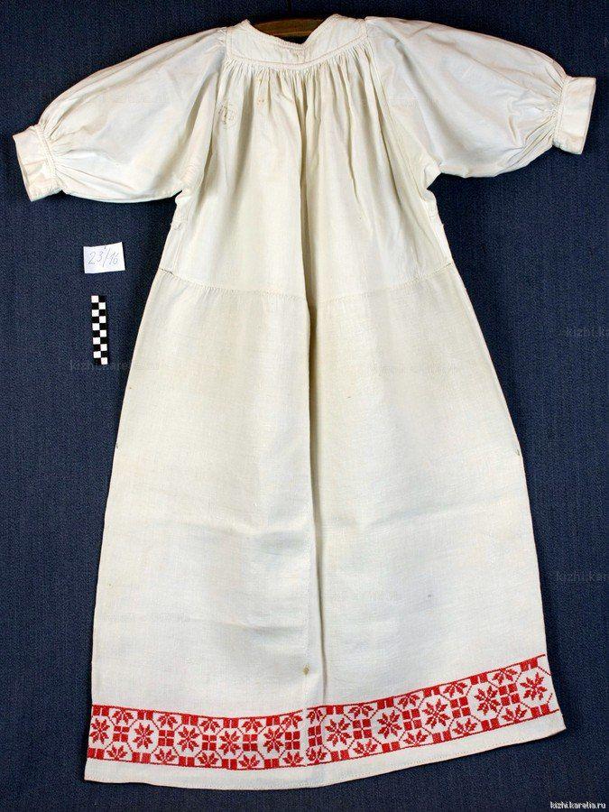 Женская рубаха из д.Улялега Карелия