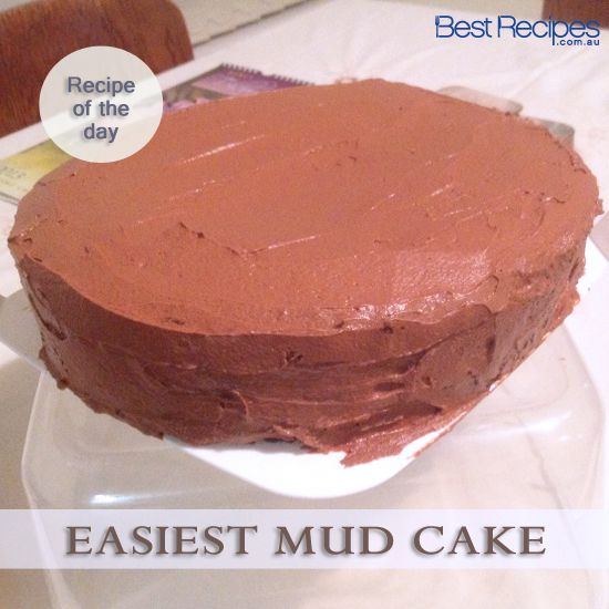 "Easiest Mud Cake Recipe. Our 5 star recipe of the day has 111 reviews with Three Little Pigs declaring it ""A beautiful rich chocolate cake"". #chocolate #cake #baking"