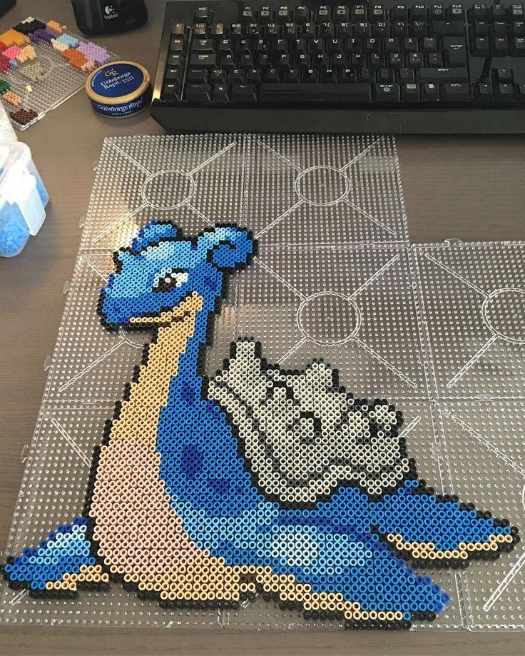 Lapras Pokemon perler beads by artbyfredd