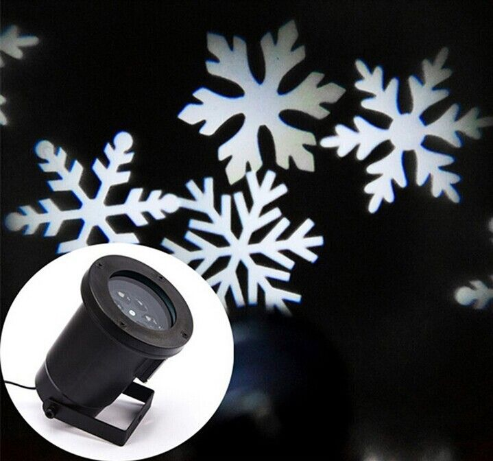 Free Shipping Outdoor Waterproof IP65 Laser Projector Light Snowflake Laser Projector Light Christmas Garden Light UK/US/EU plug