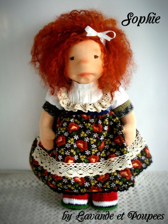 Waldorf Doll Sophie 16 Doll OOAK Doll handmade by Lavandeetpoupees