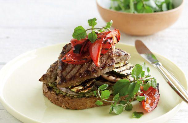 Steak Sandwich With Grilled Vegetables | CSIRO Total Wellbeing Diet