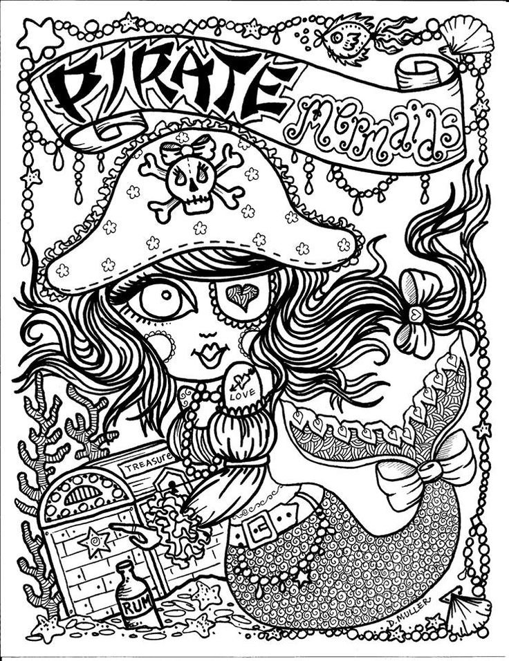 Adult Coloring Pages Girls Mystical