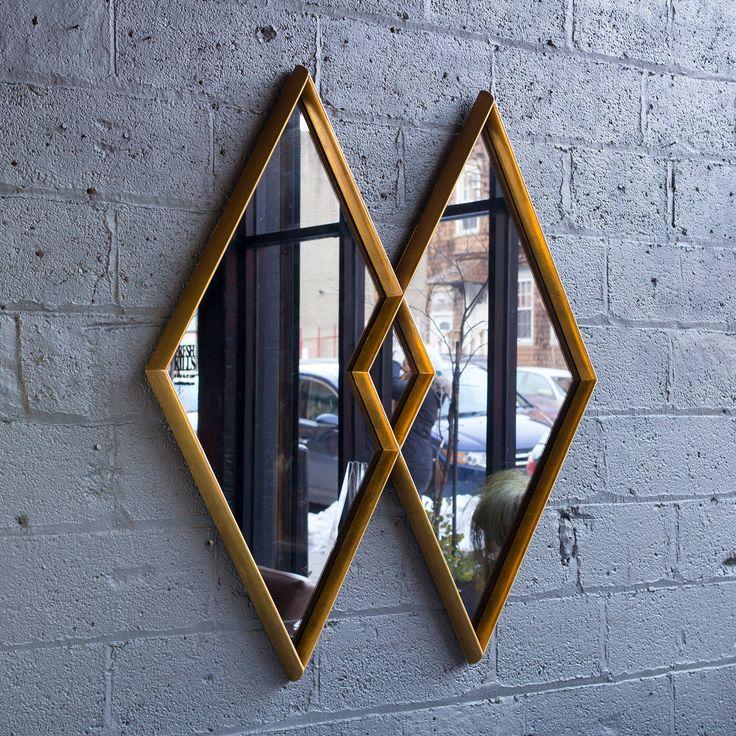 Double Diamond Mirror By La Barge