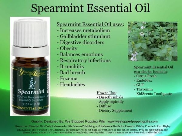 Uses for Spearmint essential oil by mpoirier32407