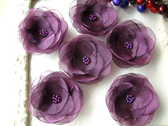 Water+Lilies+Organza+sew+on+flower+appliques+fabric+by+JujaCrafts,+$15.00