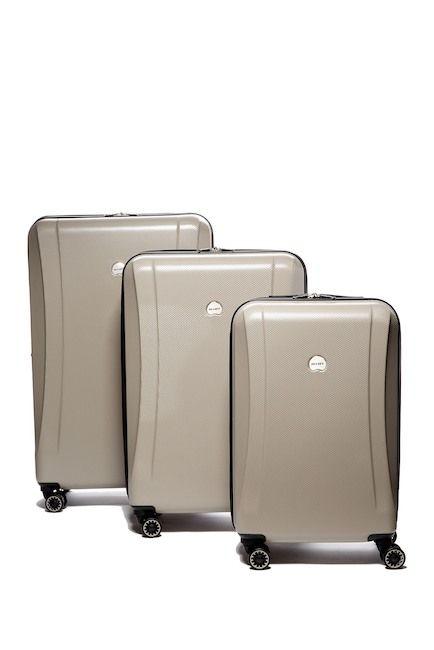 Image of Delsey Luggage Roanne 3-Piece Hardside Spinner Suitcase Set