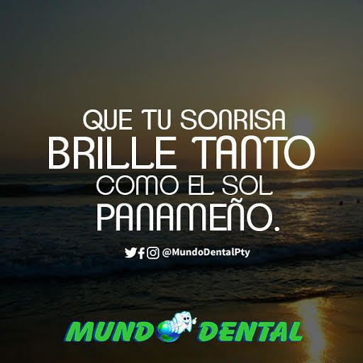 Dale a tu sonrisa el brillo que se merece! En #MundoDentalPty nos encargamos de que tu sonrisa brille con tanta fuerza como la del sol . #Panama #Smile #ClinicaDental #Odontologo #Dentista #Pty #507 #DentistaEnPanama #SonrisaBlanca #DientesSanos