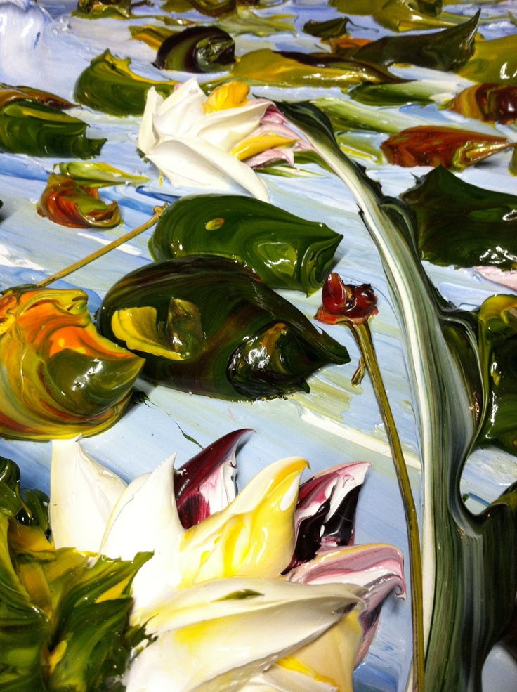 Caution Wet Paint: Waterlily Painting By: Florida Artist, Justin Gaffrey A full…