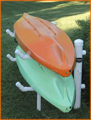 KyRack® is an innovative weather proof kayak rack storage system.