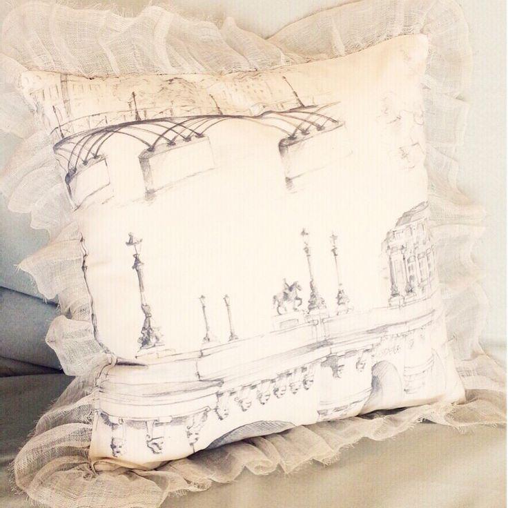 Paris shabby style Cushion