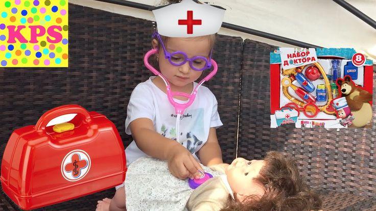 Играем в ДОКТОРА на море Лечим ИГРУШКИ Видео для детей Игры для девочек ...