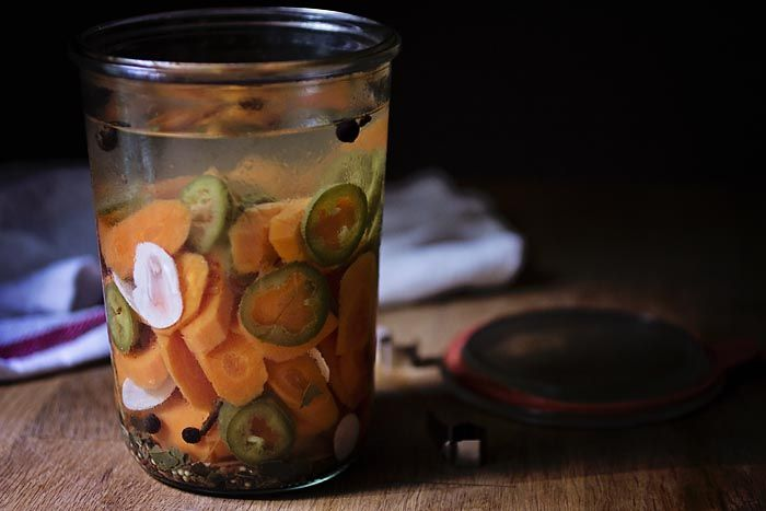 PICKLED CARROTS AND JALAPENOS as seen on Smith Bites