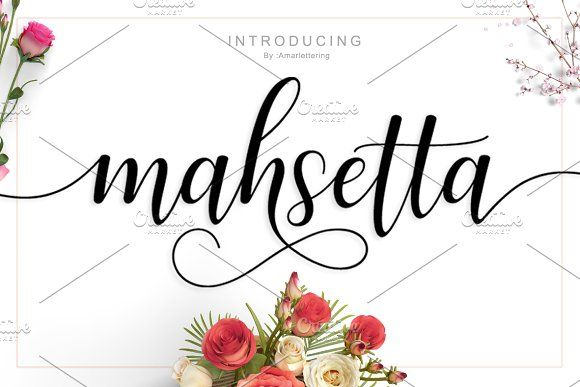 Mahsetta Script by Amarlettering on @creativemarket