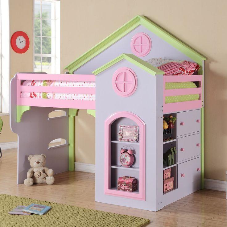 Michael Ashton Princess Loft Bed   Furniture ShowroomHome. 72 best Kids Bedroom images on Pinterest   3 4 beds  Lofted beds