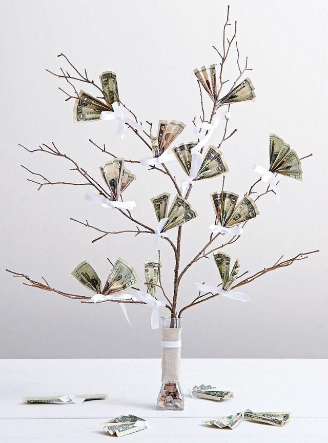 Origineel (bruilofts)cadeau: een geldboom