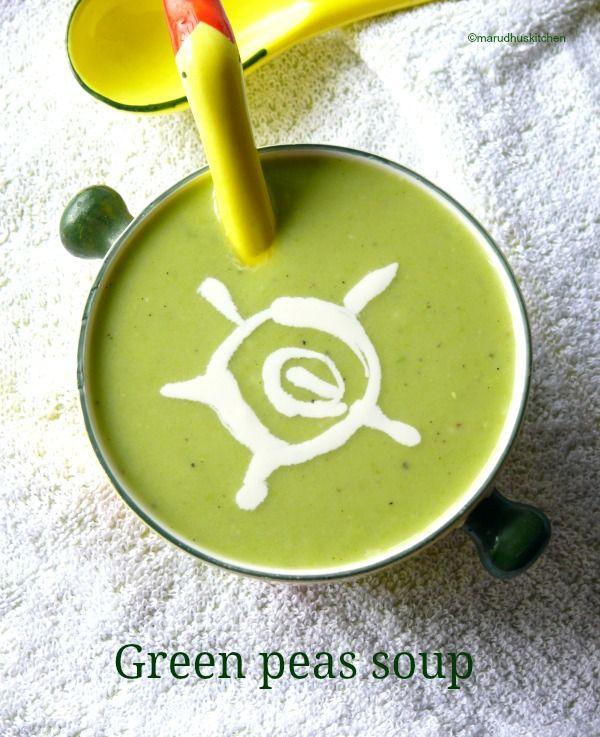 recipe for pea soup/fresh green peas soup
