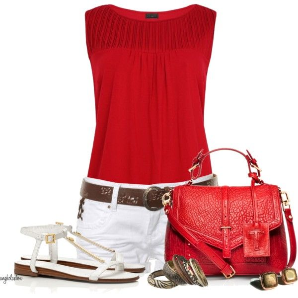 Summer Outfit: Red Tops, White Shorts, Fashion Ideas, Dreams Closet, Fashion Outfits, Tory Burch, Fashionista Trends, Summer Outfits, Fall Fashion