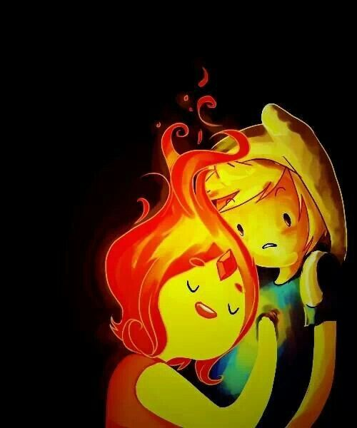 Adventure time! Finn and Flame princess I wish they were still going out :( i miss them