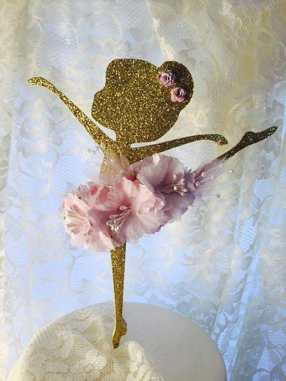 Ballerina Cake Topper  Ballerina Party Decorations