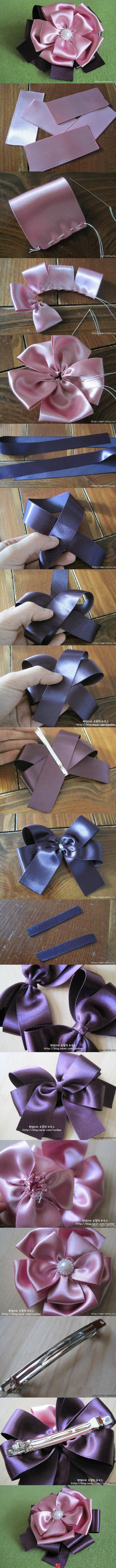 Diy hair clips. Beautiful!