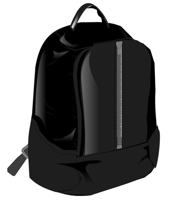 Modelo de mochila preta