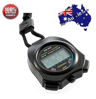 Handheld Digital LCD Chronograph Sports Stopwatch Counter Timer with Strap