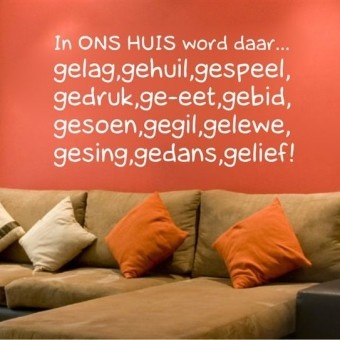 """In Ons Huis"" Wall Letters"