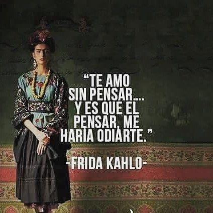 """1,320 Me gusta, 10 comentarios - La ceja de Frida (@lacejadefridakh) en Instagram: """"Y mucho.... #fridakahlo #lacejadefrida #niñafrida #Frasesfrida"""""""