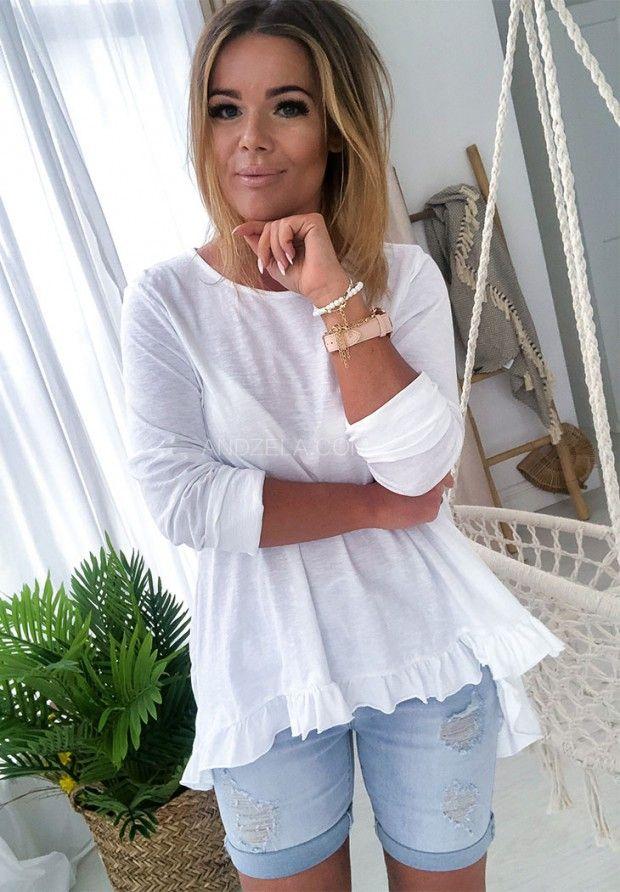 Bluzka Asymetryczna Nessi Fashion Sleeve Top Women S Top
