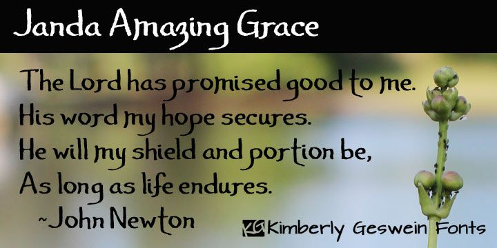 Janda Amazing Grace Font Download Hand Drawn Lettering To Add Authentic Calligraphy Style To Your Work Rough Jagged Edge Amazing Grace Download Fonts Fonts