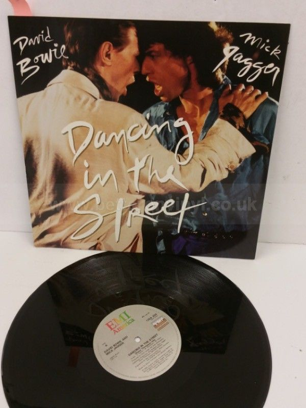 DAVID BOWIE AND MICK JAGGER dancing in the street, 12 inch single, 12EA 204 - SINGLES all genres, Including PICTURE DISCS, DIE-CUT, 7