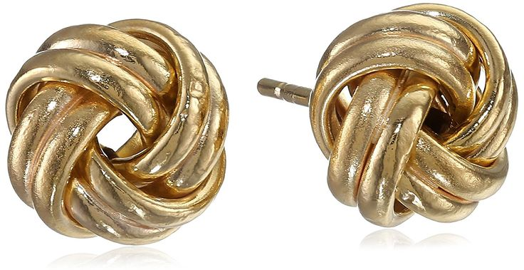 14k Yellow Gold Double Wrap Love Knot Stud Earrings *** You can find out more details at the link of the image. (This is an Amazon Affiliate link and I receive a commission for the sales)