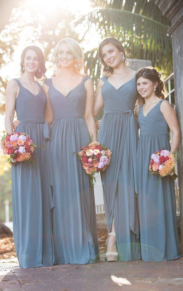 Wrap Bridesmaid Dress with Cap Sleeves 8874_alt2 via Sorella Vita / http://www.deerpearlflowers.com/sorella-vita-bridesmaid-dresses/2/