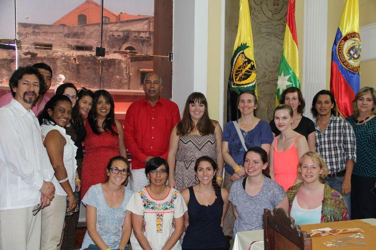 Delegación de @uwinnipeg de intercambio académico en #Unicartagena