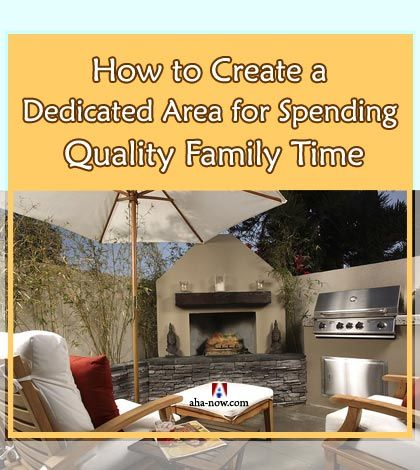 More the time we spend with our family, the stronger is the bonding. However, our modern lifestyle leaves us with little or no time for interactions within the family, leave alone quality time. One solution is to dedicate some area in the house where all members can frequently spend quality family time together. Here are some great tips to understand your family needs and  transform your outdoor living space for spending time with family on a regular basis.More at the blog. :)