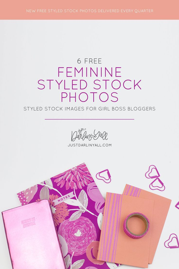 Get free feminine styled stock photos for your blog or creative business every single quarter from Just Darlin' Y'all - a styled visuals site. Visit us at https://justdarlinyall.com to get your free images.