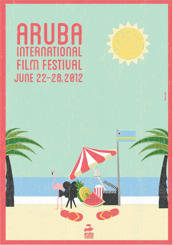 Aruba International Film Festival by Joanna Jelly, via Behance