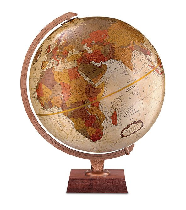59 best desktop globes images on pinterest world globes desk replogle northwoods desktop world globe with walnut colored base die cast meridian gumiabroncs Gallery
