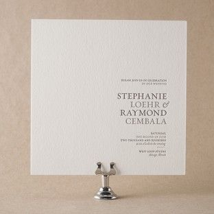 Storybook Romance takes current letterpress wedding invitation trends and mixes them up with some classic type for a truly new and dazzling impression. Jessica Tierney's design is simple and fresh and loaded with sweet letterpress whimsy.