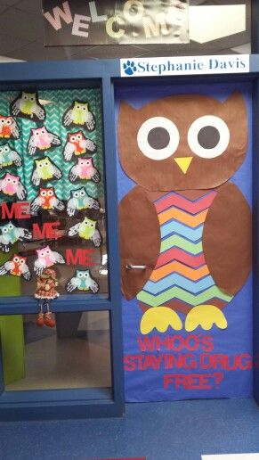 Idea for red ribbon week - Whoo's drug free with hoot owl