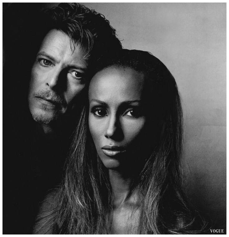 Iman & David Bowie Vogue, June, 1994 Photo Irving Penn