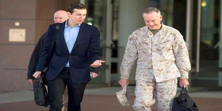 "Top News: ""IRAQ POLITICS: Kushner, Flies Into Iraq With Top US General"" - http://politicoscope.com/wp-content/uploads/2017/04/USA-POLITICS-NEWS-US-NEWS-Jared-Kushner-L-speaks-with-Marine-Corps-Gen.-Joseph-F.-Dunford-Jr.-chairman-of-the-Joint-Chiefs-of-Staff-before-.jpg - Marine General Joseph Dunford chairman of US military's Joint Chiefs of Staff, invited Kushner,Tom Bossert, White House homeland security adviser, to accompany him.  on World Political News - http://politicos"