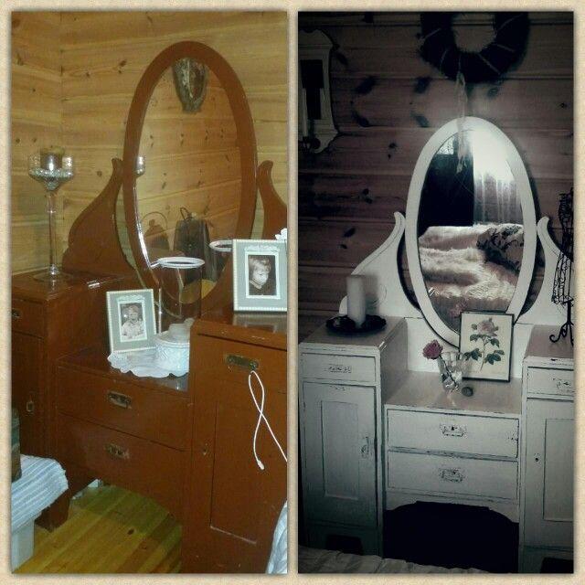Granny's old mirror got a new polish! Made by Mari Aho / ahoDesign