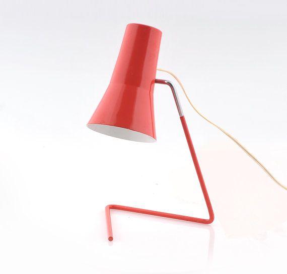 Modernist Mid century desk lamp Drupol 21616, designed by Josef Hurka
