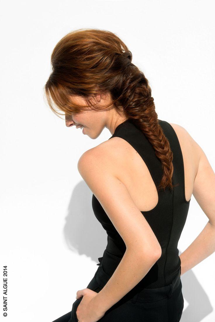Tresse Epi Une tresse pleine de volume, pour un style amazone. #SaintAlgue #coiffure #cheveux