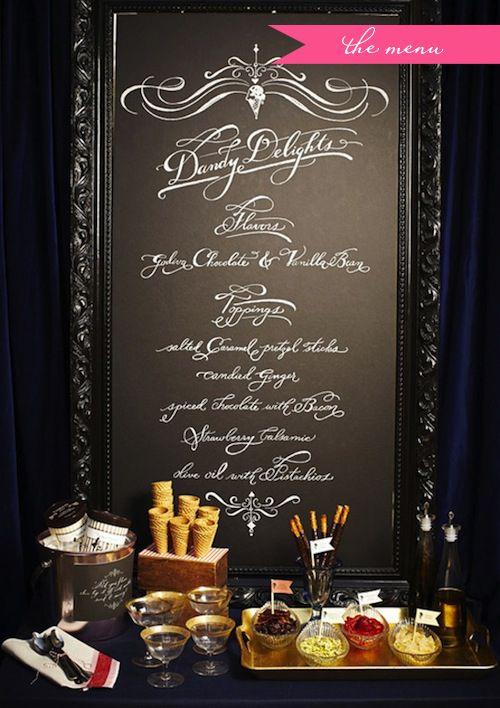 framed menu