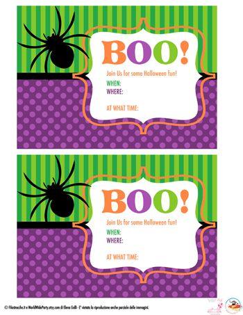 Halloween: inviti per la festa fai da te (anche in inglese!) - Filastrocche.it