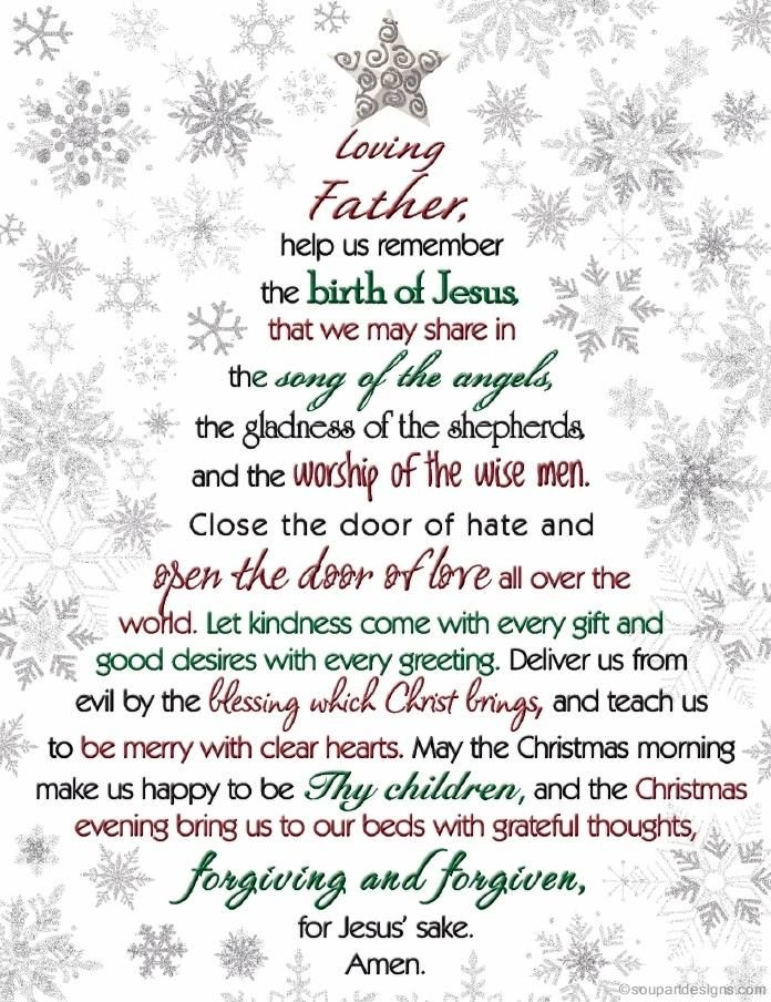 Loving Father, help us remember the birth Of Jesus that we may share ...