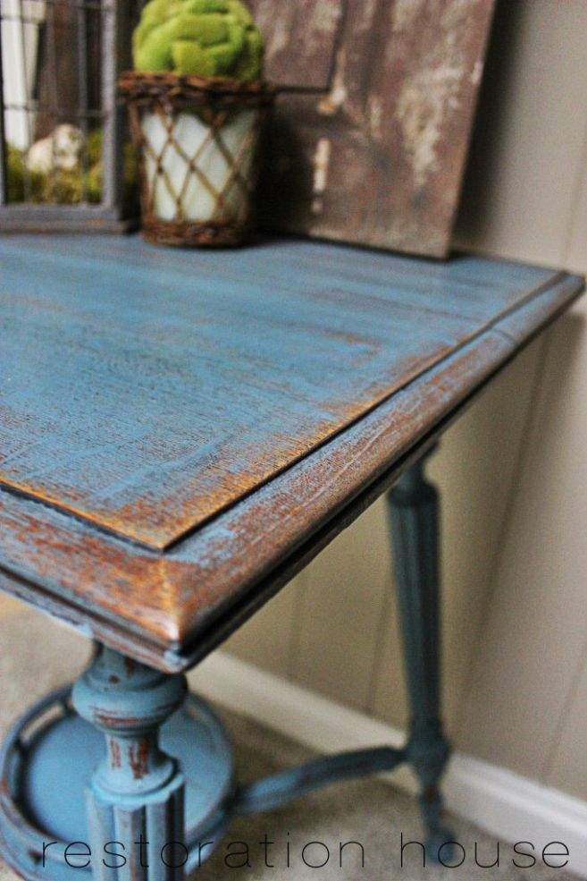 Miss Mustard Seed Milk Paint in French Enamel. Love this rich indigo color.